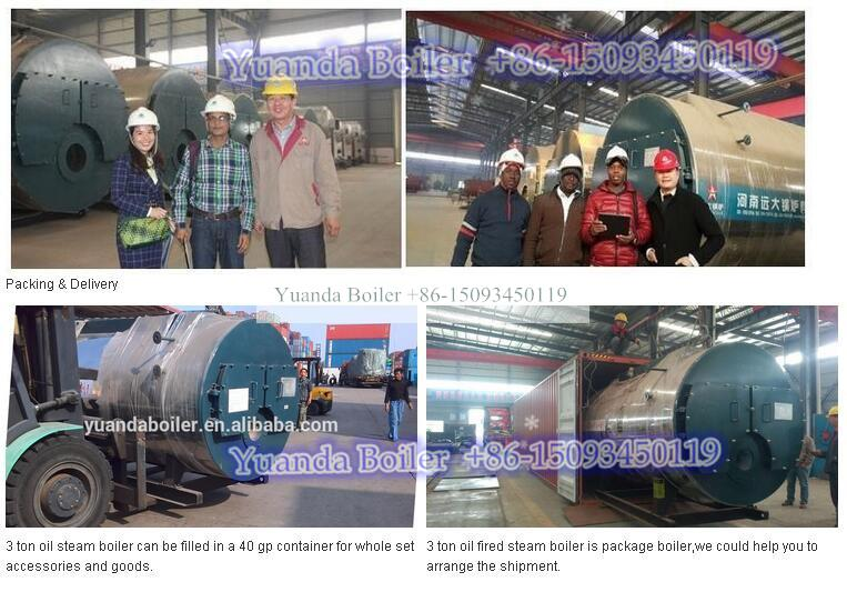 3 pass 3ton 3 ton natural gas steam boiler