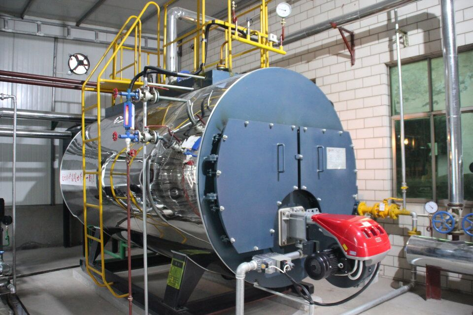 Three Pass Industrial Steam Boilers Gas Fired Hot Water